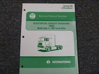 1997-1998 International 9800 Truck Electrical Wiring ...