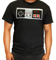 Nintendo Vintage Controller Nerd T-shirt Tee Mens Short Sleeve Basic Black Games