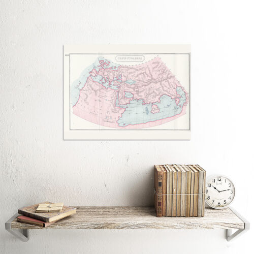 MAP ORBIS PTOLEMAEI VINTAGE 12 X 16 INCH ART PRINT POSTER PICTURE HP2208