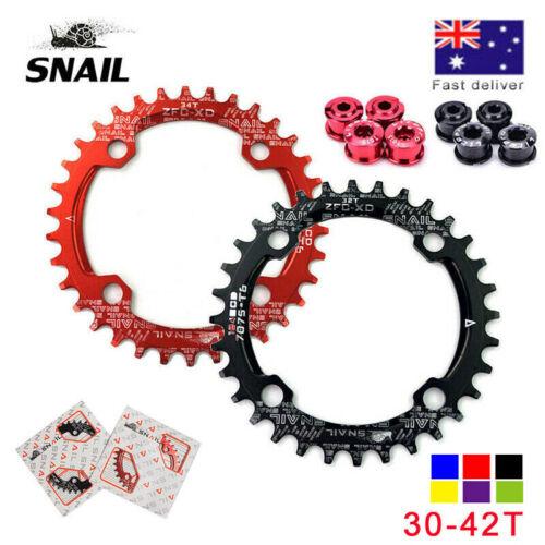 AU STOCK 30T-42T 104BCD Narrow Wide MTB Road Bike Chainring Single Chain Ring