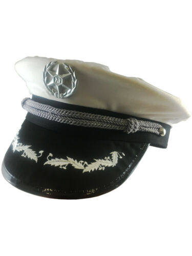 Deluxe White Navy Officer/'s Yacht Boat Marines Hat Cap