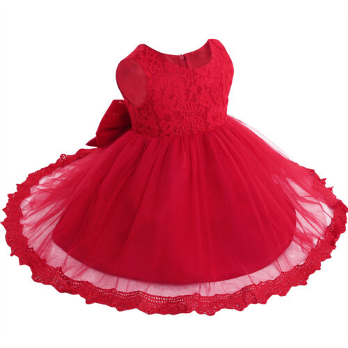 Kids Baby Flower Girls Party Lace Dress Wedding Bridesmaid Dresses Princess UK