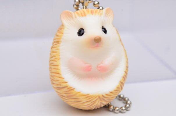 Kitan Club ntc Puff Hedgehog Mascot & Brooch Marumari #B Ball chain type Figure