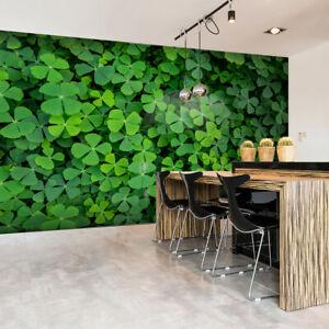 Details zu VLIES FOTOTAPETE Blumen Klee grün Natur TAPETE WANDBILDER XXL  Wohnzimmer 3 Farbe