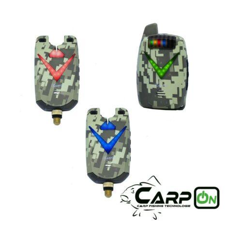 CarpOn Bissanzeiger Set V2+1 Camou Set 1:1 Camouflage Transportkoffer 180 m