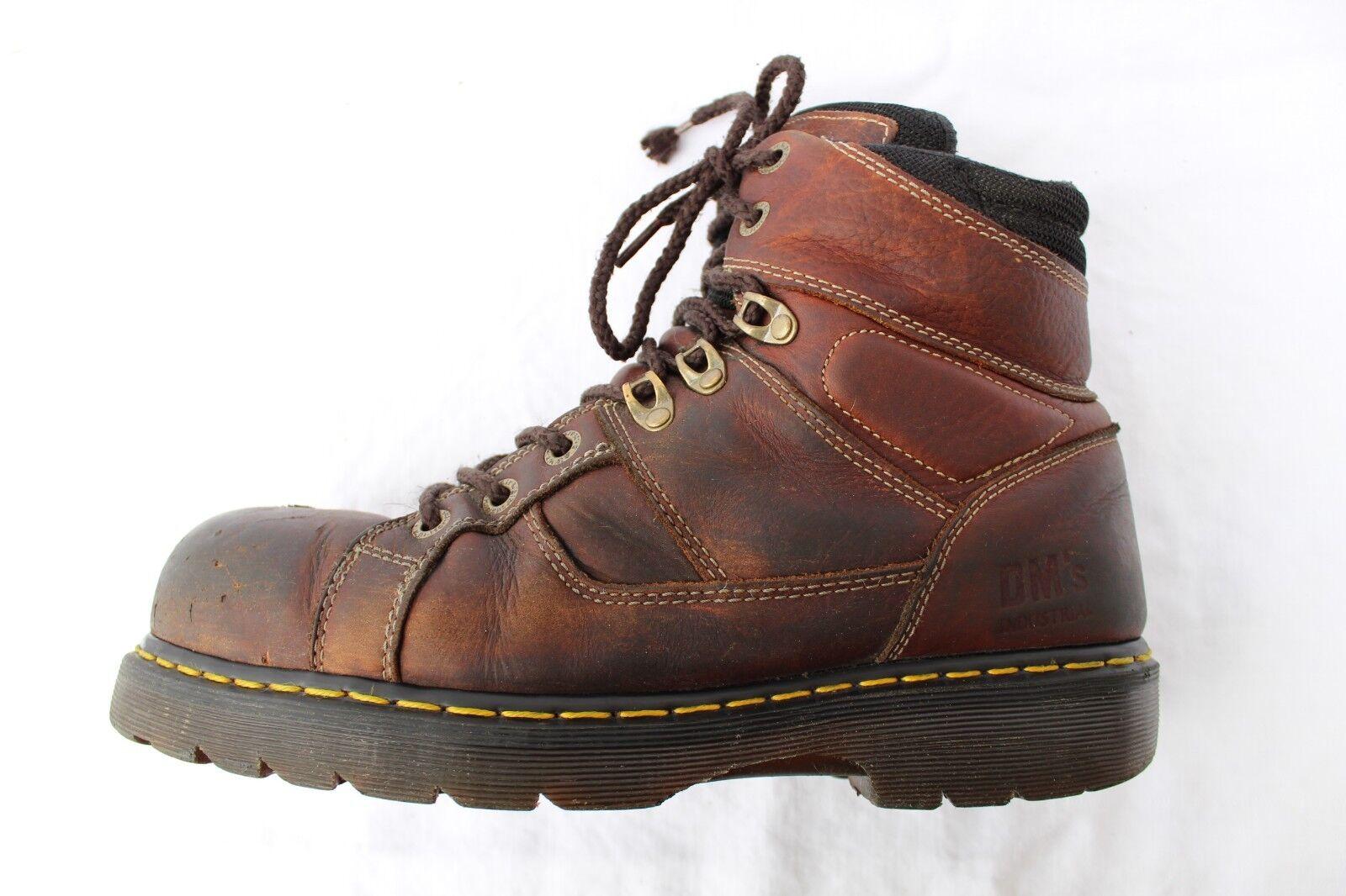 Dr Doc Martens D30 Steel Brown Toe Slip Resistant Brown Steel Pelle Uomo 11 M EUR 45 Stivali 6f5271
