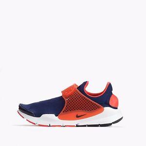 best service e82c9 01b99 Details about Nike Sock Dart Jacquard Mens Womens Unisex Shoes Midnight  Navy/Max Orange