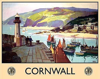 St Ives Cornwall Cornish Boats Harbour British Railways Large Metal Steel Sign
