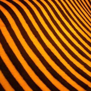 Plusch Stoff Biene Gelb Schwarz Streifen 0 5m Kunstfell Basteln