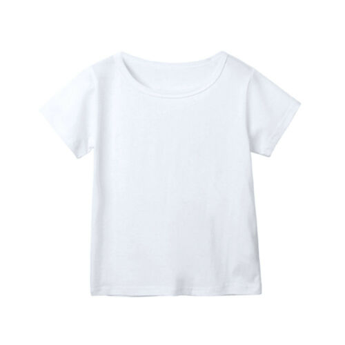 Popular Toddler Children Baby Boys Girls Clothes Solid Candy Color Tops T-Shirts