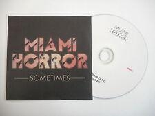 MIAMI HORROR : SOMETIMES ( RADIO EDIT ) [ CD SINGLE ] ~ PORT GRATUIT