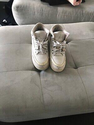 separation shoes e133c 4ad7b Jordan Retro 3 Men's White/White/White 36064111   eBay