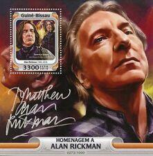Guinea-Bissau 2016 MNH Alan Rickman 1v S/S Harry Potter Severus Snape Stamps