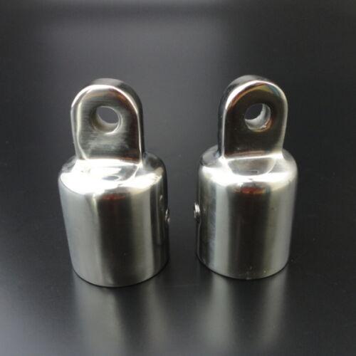 "2x Eye End 7//8/"" Bimini Canopy Hardware Fittings Marine 316 Stainless Steel Sea"