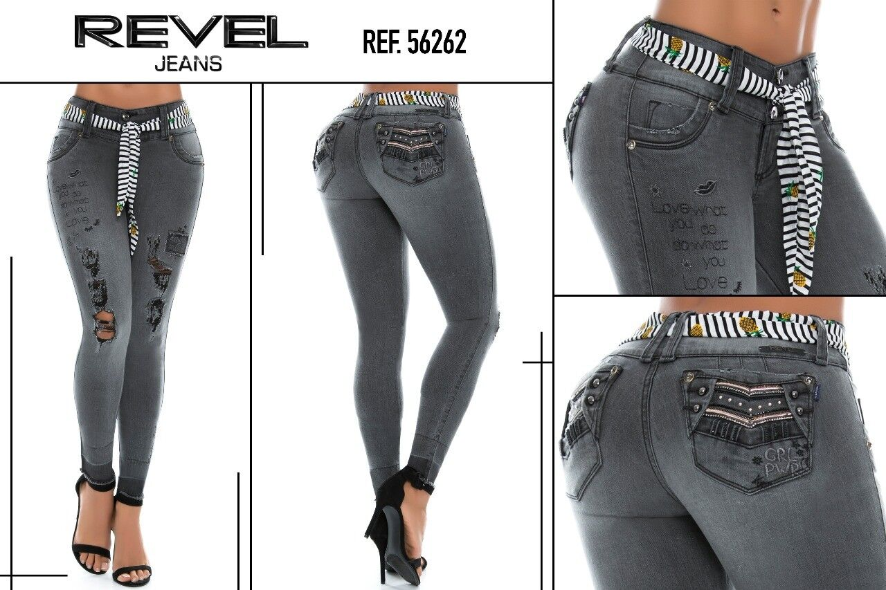 REVEL JEANS COLOMBIANOS AUTHENTIC COLOMBIAN PUSH UP JEANS LEVANTA COLA