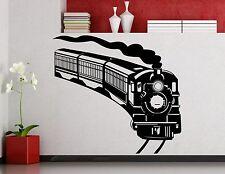 Train Wall Decal Locomotive Vinyl Sticker Home Art Nursery Decoration Mural 29cr
