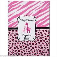 Sweet Safari Girl Keepsake Book Baby Shower Party Supplies Favors Pink Giraffe