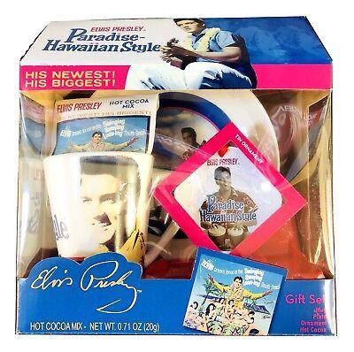Ornament Cocoa Mix Gift Set Plate 1X Elvis Presley Pink Cadillac  Mug