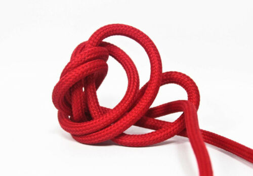 Textilkabel Anschlussleitung 3x0,75 Zuleitung Schukostecker Schalter rot 3 x 3m