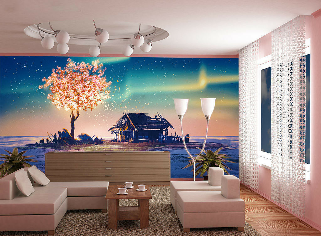 3D Snow Tree House 42 Wall Paper Wall Print Decal Wall Deco Indoor Mural Lemon