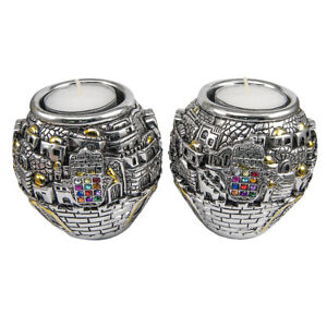 Candle-Holders-Jerusalem-Ball-Silver-Plated-925-Electroforming-Candlesticks-3-5-034