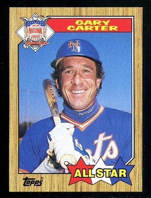 1987 Topps Gary Carter 602 Baseball Card