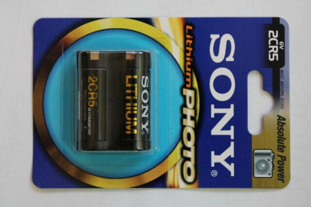 2 CR5 piles Sony Photo lithium 6V DL 245 EL 2CR5n Validité Déc.2023 ! Japan made
