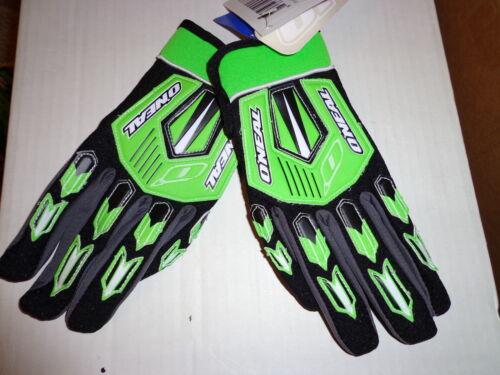 ONEAL kids youth Element gloves Green sz 7 XL   motocross ATV BMX  0392-507
