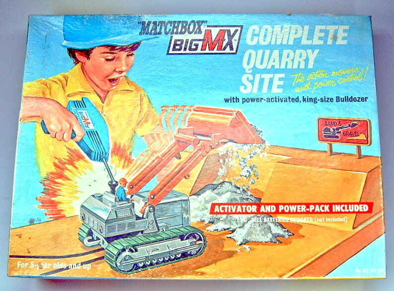 MATCHBOX Superking Big MX Set 5 Quarry Site & traxvacator VERSIONE USA