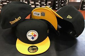 New Era 59FIFTY Pittsburgh Steelers Official NFL On Field Cap Fitted ... 9450a60a748