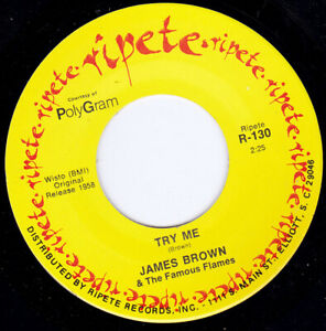 "JAMES BROWN - Try Me 7"" 45"