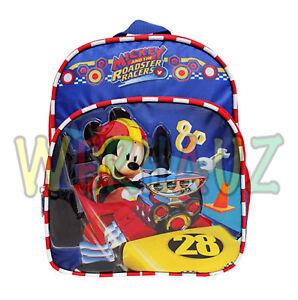 Disney Mickey Mouse Roadster Racers Kids Girls Mini Backpack School ... 7623091f9223f