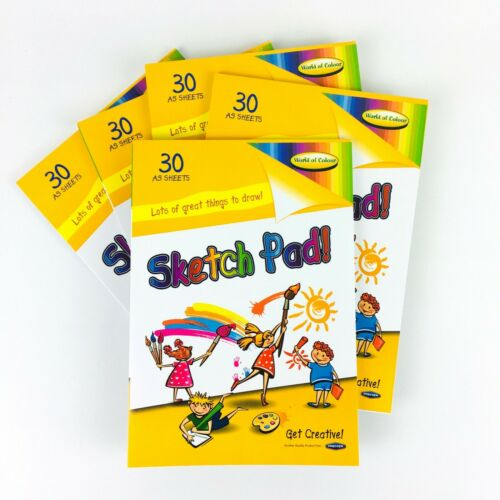 A5 Sketch Pad Art Craft Paper Doodle Drawing Colouring Sketching Book 30 Sheets