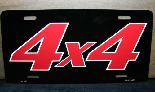 4 X 4 Gelände Metal Neuheit Kennzeichen für Lkw Jeep und Suvs 4x4
