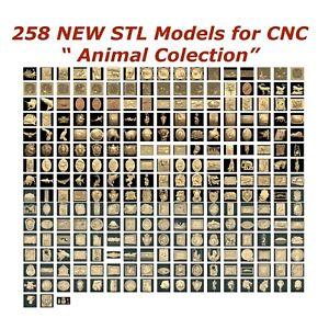 "258 3d STL Models - ""Animal Collection"" for CNC relief artcam 3d printer aspire"