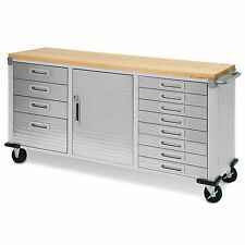 One Drawer Cabinet Stainless Steel Top Seville Classics Locking ...