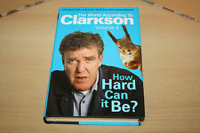 JEREMY CLARKSON - HOW HARD CAN IT BE HARDBACKED BOOK