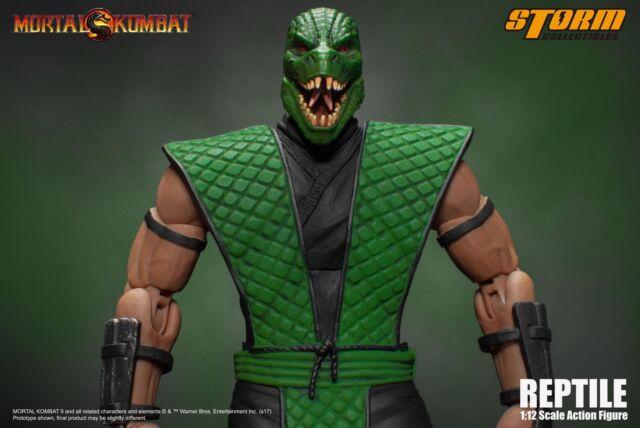 Storm Toys 1/12 Scale Mortal Kombat Klassic Reptile Action Figure New