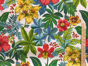 Details About Tropical Flower Fabric Fl Mill Creek Indoor Outdoor Upholstery 114 Long