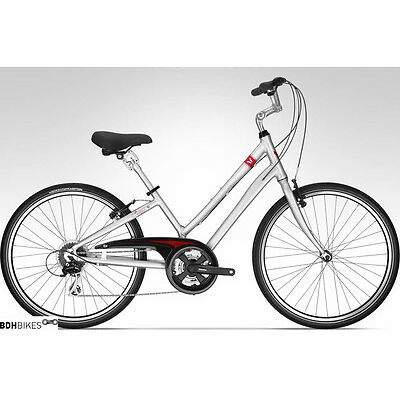 DEVINCI CUSTOM Stepthru Small 2015 Silver/Red New !
