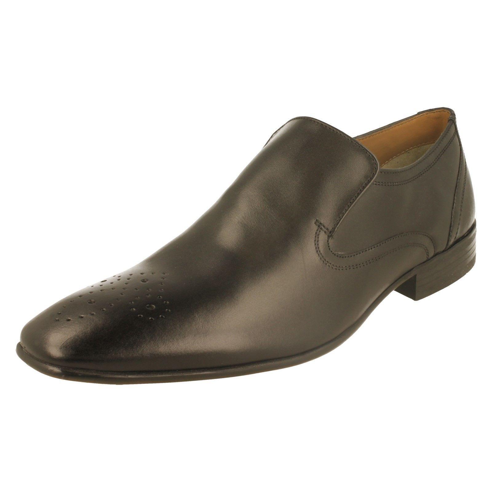 Base London 'Era' Herren schwarz Slipper Leder Formelle Schuhe