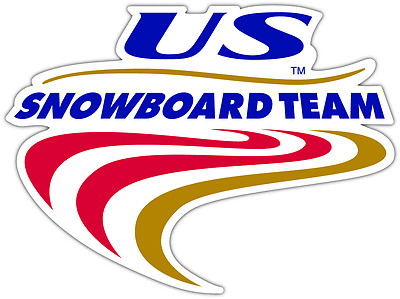"US Snowboard Team USA Car Bumper Window Sticker Decal 5/""X4/"""