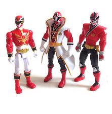 "Morphin Power Rangers RED RANGER  TEAM toy action 4"" figures lot set of 3"
