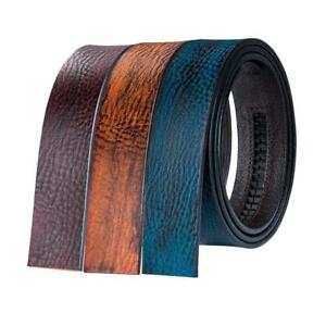 USA-Full-Grain-Leather-Mens-Replacement-Belts-Ratchet-Color-Strap-Without-Buckle