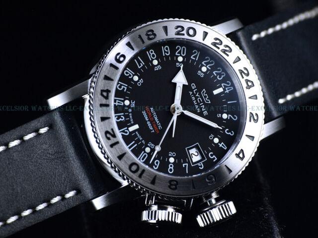 Glycine 39mm Airman 18 Swiss Made Purist Automatic Ss Watch Gl293 3918