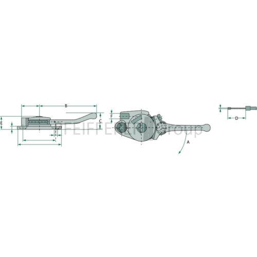 Magura regulierhebel 14//brida de fijación V-nº 14arf1 BK 0012060