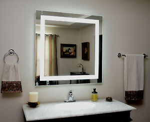lighted vanity mirror led lighted wall mounted mam83636 36 tall x 36. Black Bedroom Furniture Sets. Home Design Ideas