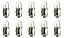 SHORT Box of 10 #212114 Lamp Auto Bulb Automotive Lightbulb 24V 0.6W BA7s