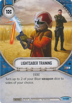 x2 Lightsaber Training 131 Common Star Wars Destiny Empire at War M//NM
