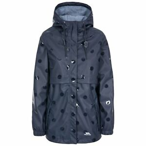 Trespass-Womens-Rain-Coat-Longline-Waterproof-Jacket-Polka-Dot-Coat-XXS-XXL